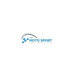 Championship moto sport logo design vector