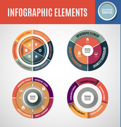 Circle infographics set 1 vector