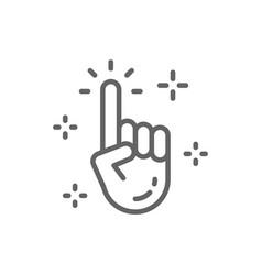 Clean hand cursor click line icon vector