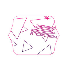 Color edge quadrate with geometric figure stye vector