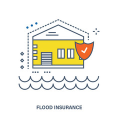 Concept of flood insurance vector