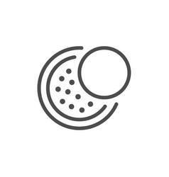 Cosmetic powder line icon vector