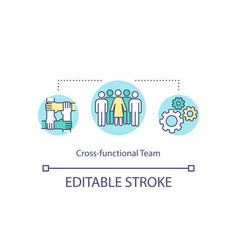 Cross functional team concept icon vector