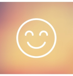 Cute smile thin line icon vector image