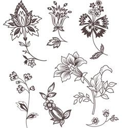 Decor floral elements vector