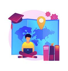 Distance university courses concept vector