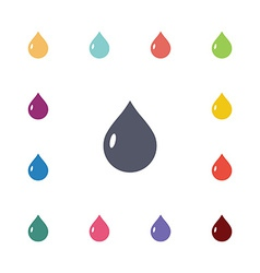 drop flat icons set vector image