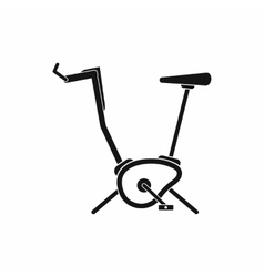 Exercise bike icon simple style vector image
