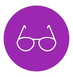Eyeglasses line icon vector