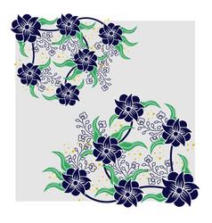 Floral batik pattern vector