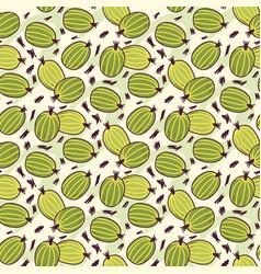 fruits hand drawn set vector image