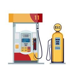 Gas or petrol station gasoline oil fuel diesel vector