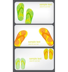 Gift card with flip flops isolated on white vector image