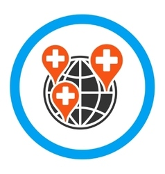 Global Clinic Company Rounded Icon vector image