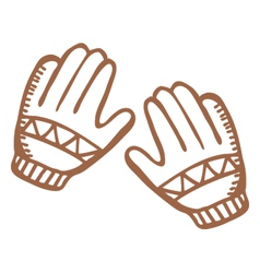 gloves vector image vector image