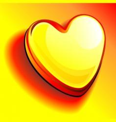 Gold bullion heart vector