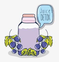 Grapes juice detox vector