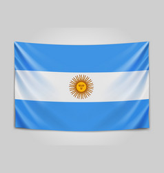 Hanging flag of argentine argentine republic vector