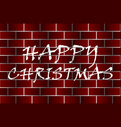 happy christmas - white and red vector image