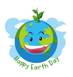 Happy earth day concept vector