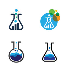 Health medical lab icon template vector