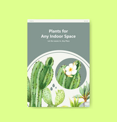 Information about summer plant and house plants vector