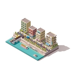 Isometric town street vector