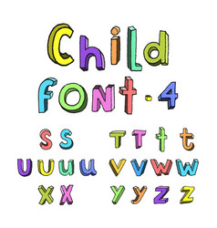 kids cartoon colorful alphabet vector image