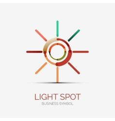 Light spot icon company logo business concept vector image