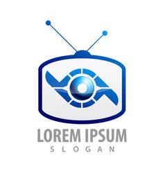 logo concept design square television symbol vector image