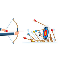 Many arrows missed target mark vector
