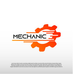 Mechanic logo with gear concept technology icon vector