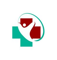 Medical health care clinic logo template vector