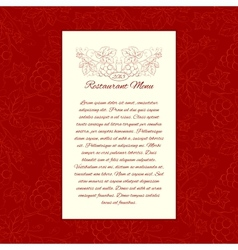 Menu card gesign vector image
