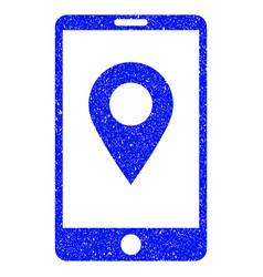 mobile gps grunge icon vector image