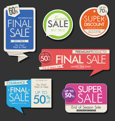 modern sale banners and labels collection 02 vector image