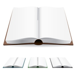 open book white pages vector image
