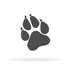 Paw prints logo 1 vector