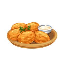 Potato pancake food vector