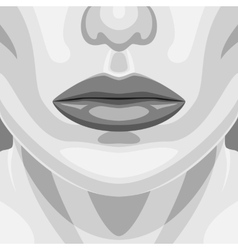 Retro Portrait of beauty Vampire Woman Face vector image
