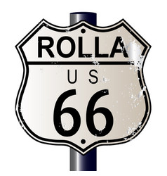 Rolla route 66 sign vector