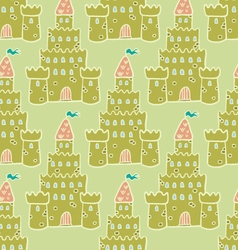 Sandcastle Seamless pattern vector