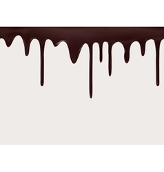 seamless flowing melted chocolate vector image