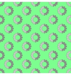 Seamless Gear Pattern Industrial Background vector image