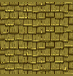 Seamless old green wood roof tiles vector