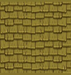Seamless old green wood rotiles vector