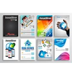 Set of Flyer Design Infographic Templates Brochure vector