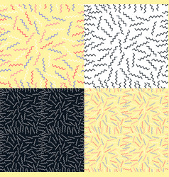 set seamless pattern background with geometric vector image