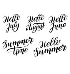 Set summer time inscriptions vector