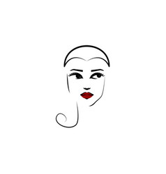shell hat girl icon element beautiful girl in vector image